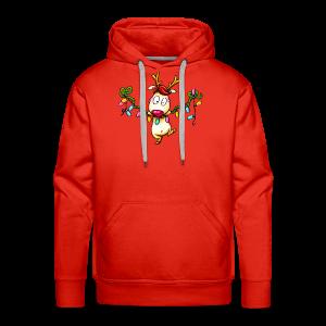 cloth bag reindeer on a chain of lights - Männer Premium Hoodie
