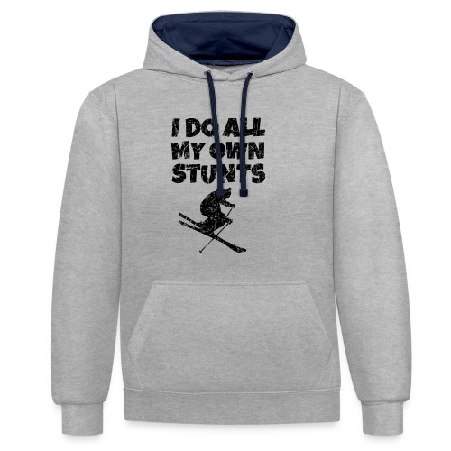 I do my own Stunts T-Shirt - Kontrast-Hoodie