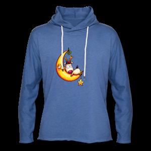 cloth bag reindeer on the moon - Leichtes Kapuzensweatshirt Unisex