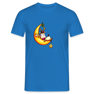 cloth bag reindeer on the moon - Männer T-Shirt