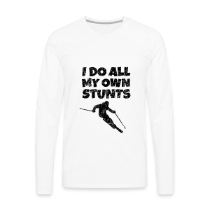I do my own Stunts Kinder T-Shirt - Männer Premium Langarmshirt