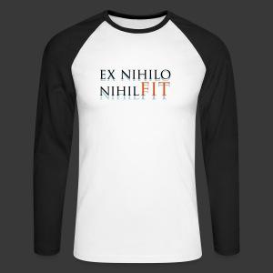 EX NIHILO NIHIL FIT - Men's Long Sleeve Baseball T-Shirt