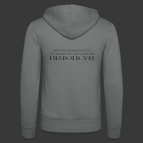 ERRARE HUMANUM EST - Unisex Hooded Jacket by Bella + Canvas