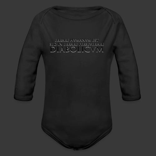 ERRARE HUMANUM EST - Organic Longsleeve Baby Bodysuit