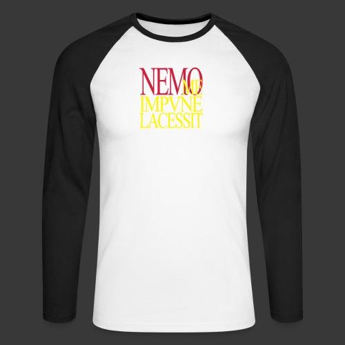 NEMO ME IMPUNE LACESSIT - Men's Long Sleeve Baseball T-Shirt