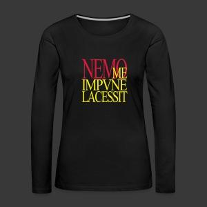 NEMO ME IMPUNE LACESSIT - Women's Premium Longsleeve Shirt