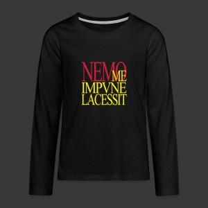 NEMO ME IMPUNE LACESSIT - Teenagers' Premium Longsleeve Shirt