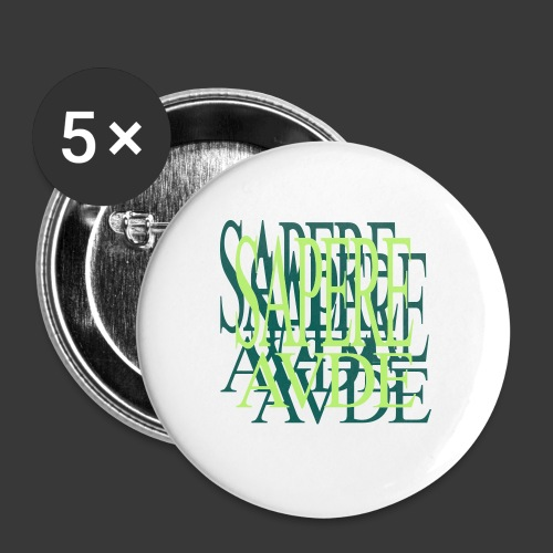 SAPERE AUDE - Buttons medium 1.26/32 mm (5-pack)
