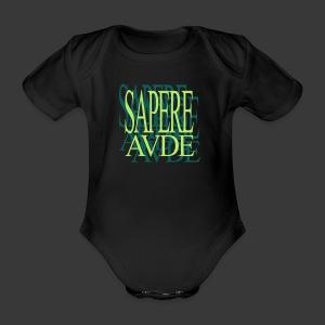 SAPERE AUDE - Organic Short-sleeved Baby Bodysuit