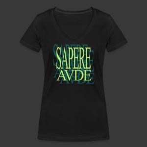 SAPERE AUDE - Women's Organic V-Neck T-Shirt by Stanley & Stella