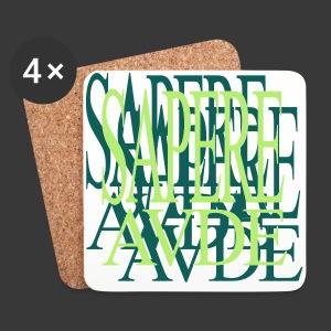 SAPERE AUDE - Coasters (set of 4)
