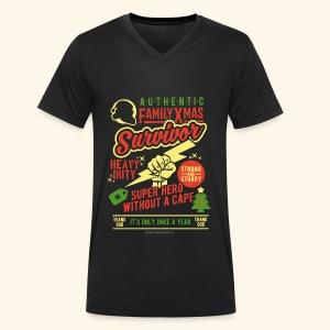 Family Xmas Survivor - Männer Bio-T-Shirt mit V-Ausschnitt von Stanley & Stella