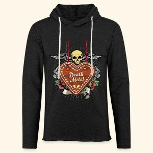 Lebkuchenherz Death Metal - Leichtes Kapuzensweatshirt Unisex
