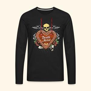 Lebkuchenherz Death Metal - Männer Premium Langarmshirt