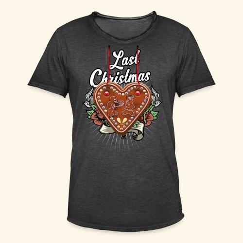 Lebkuchenherz Last Christmas - Männer Vintage T-Shirt
