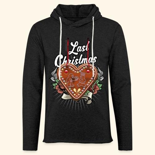 Lebkuchenherz Last Christmas - Leichtes Kapuzensweatshirt Unisex
