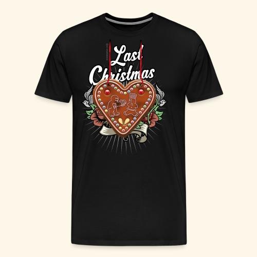 Lebkuchenherz Last Christmas - Männer Premium T-Shirt