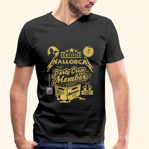 Mallorca Party Crew Member - Männer Bio-T-Shirt mit V-Ausschnitt von Stanley & Stella