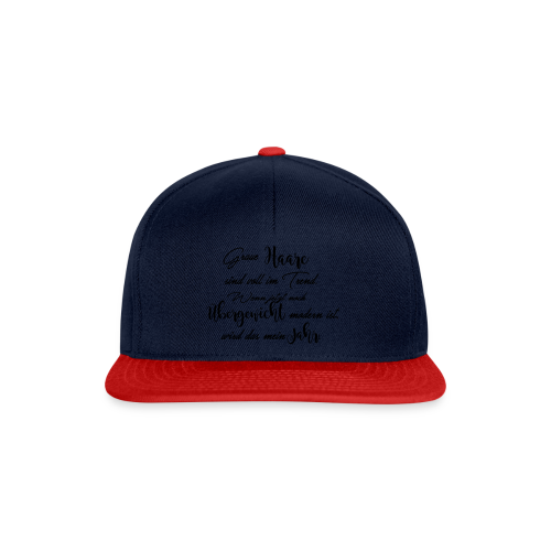 Graue Haare - 2017 - Snapback Cap