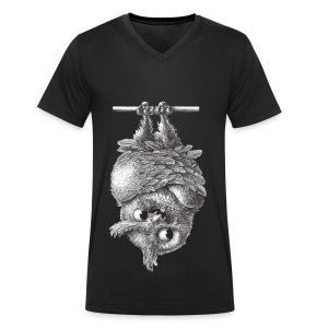 Vampireule - Männer Bio-T-Shirt mit V-Ausschnitt von Stanley & Stella