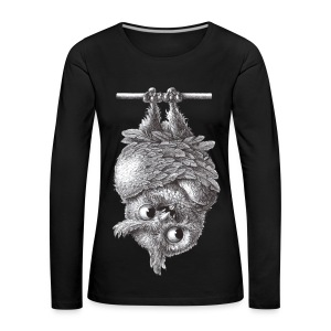 Vampireule - Frauen Premium Langarmshirt