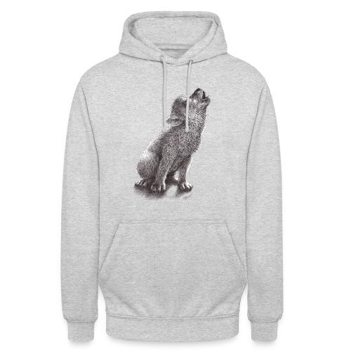 Junger heulender Wolf  T-shirt - Unisex Hoodie
