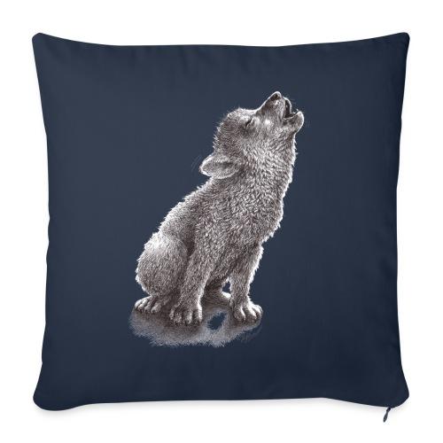 Junger heulender Wolf  T-shirt - Sofakissenbezug 44 x 44 cm