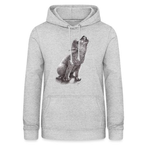 Junger heulender Wolf  T-shirt - Frauen Hoodie