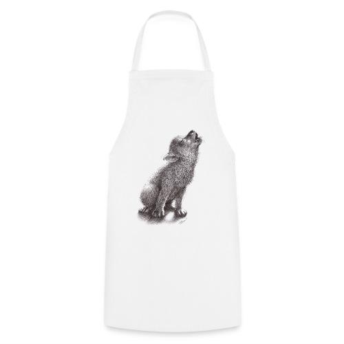 Junger heulender Wolf  T-shirt - Kochschürze