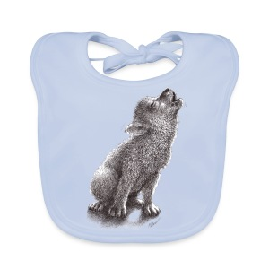 Junger heulender Wolf  T-shirt - Baby Bio-Lätzchen