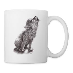 Junger heulender Wolf  T-shirt - Tasse