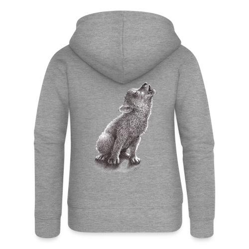 Junger heulender Wolf  T-shirt - Frauen Premium Kapuzenjacke