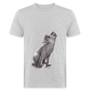 Junger heulender Wolf  T-shirt - Männer Bio-T-Shirt