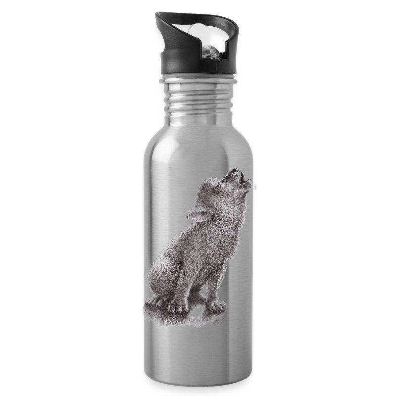 Junger heulender Wolf  T-shirt - Trinkflasche