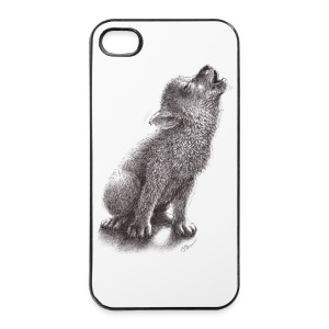 Junger heulender Wolf  T-shirt - iPhone 4/4s Hard Case