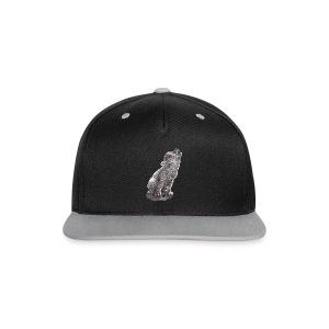 Junger heulender Wolf  T-shirt - Kontrast Snapback Cap