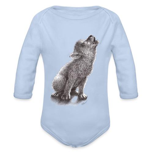 Junger heulender Wolf  T-shirt - Baby Bio-Langarm-Body