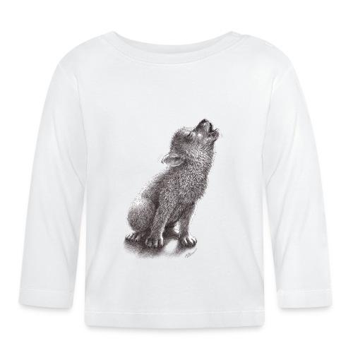 Junger heulender Wolf  T-shirt - Baby Langarmshirt