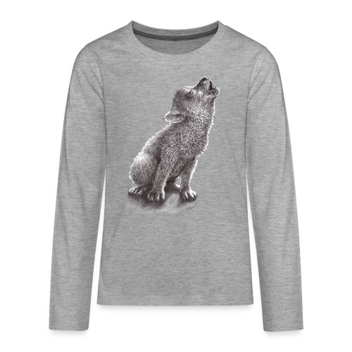 Junger heulender Wolf  T-shirt - Teenager Premium Langarmshirt
