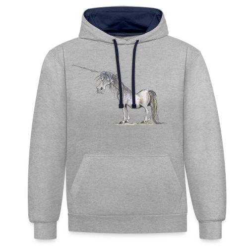 Einhorn t-shirt, Das allerletzte Einhorn - Kontrast-Hoodie
