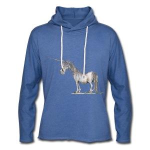 Einhorn t-shirt, Das allerletzte Einhorn - Leichtes Kapuzensweatshirt Unisex