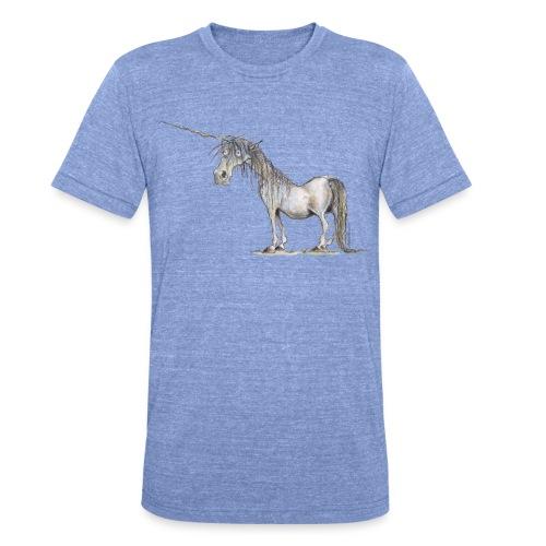 Einhorn t-shirt, Das allerletzte Einhorn - Unisex Tri-Blend T-Shirt von Bella + Canvas