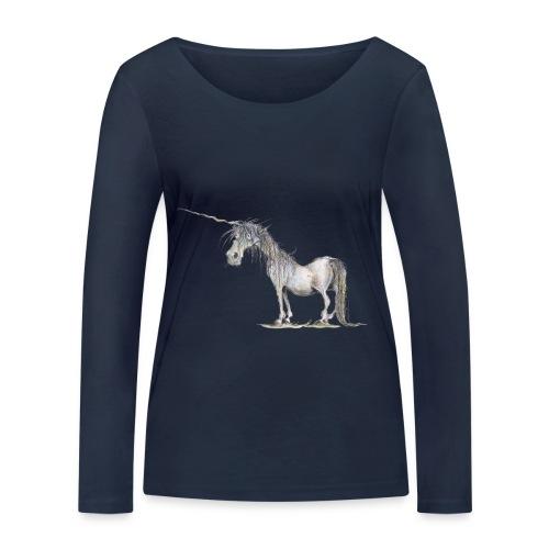 Einhorn t-shirt, Das allerletzte Einhorn - Frauen Bio-Langarmshirt von Stanley & Stella