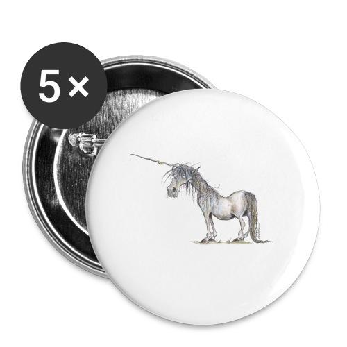 Einhorn t-shirt, Das allerletzte Einhorn - Buttons groß 56 mm
