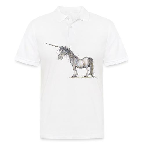 Einhorn t-shirt, Das allerletzte Einhorn - Männer Poloshirt