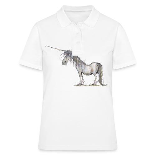 Einhorn t-shirt, Das allerletzte Einhorn - Frauen Polo Shirt