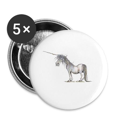 Einhorn t-shirt, Das allerletzte Einhorn - Buttons klein 25 mm
