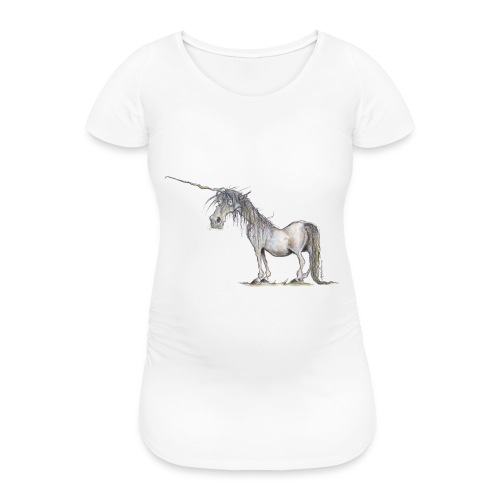 Einhorn t-shirt, Das allerletzte Einhorn - Frauen Schwangerschafts-T-Shirt