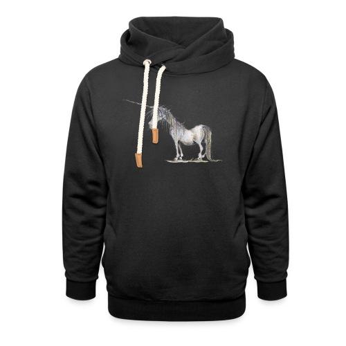 Einhorn t-shirt, Das allerletzte Einhorn - Schalkragen Hoodie