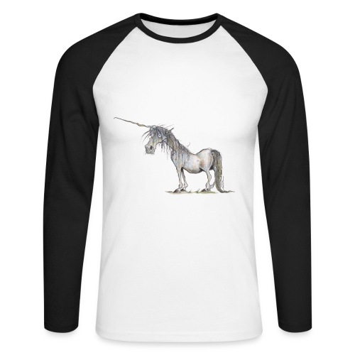 Einhorn t-shirt, Das allerletzte Einhorn - Männer Baseballshirt langarm